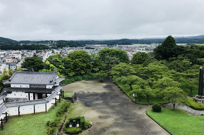 白石城の天守閣からの眺めの画像