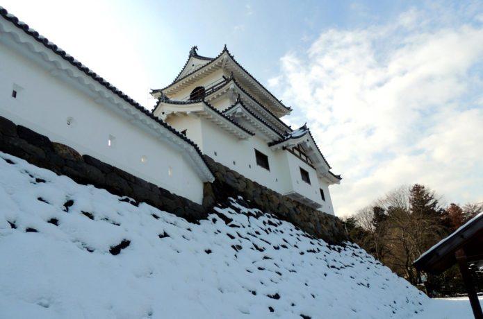 冬の白石城の画像