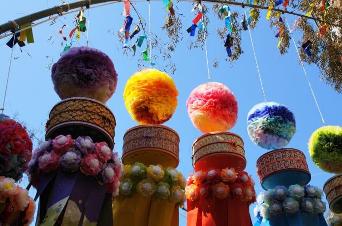 材木岩の夏の祭り