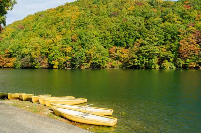 長老湖 ボート