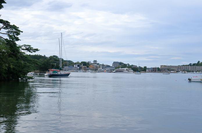 雄島から見る松島海岸