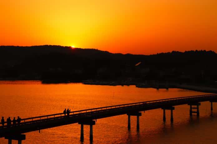 福浦島と夕焼け