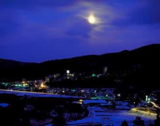 鳴子温泉-夜景-冬