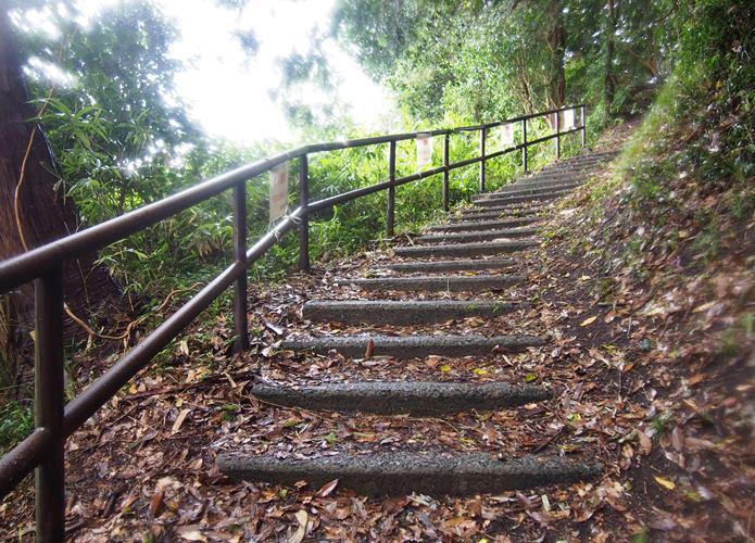 稲ヶ﨑公園に続く階段