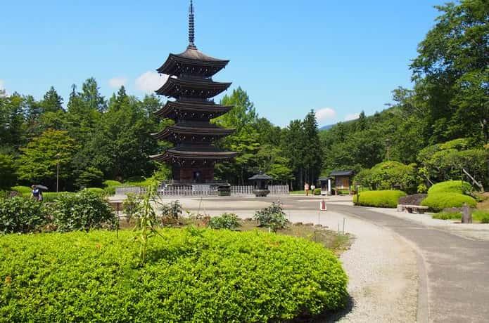 西方寺 五重塔