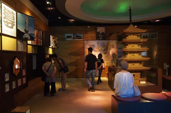 西方寺 展示室 内部