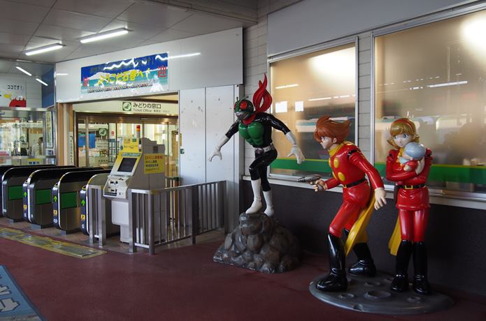 石巻駅内のモニュメント