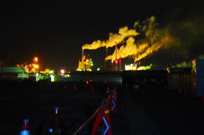 日本製紙石巻工場 夜景