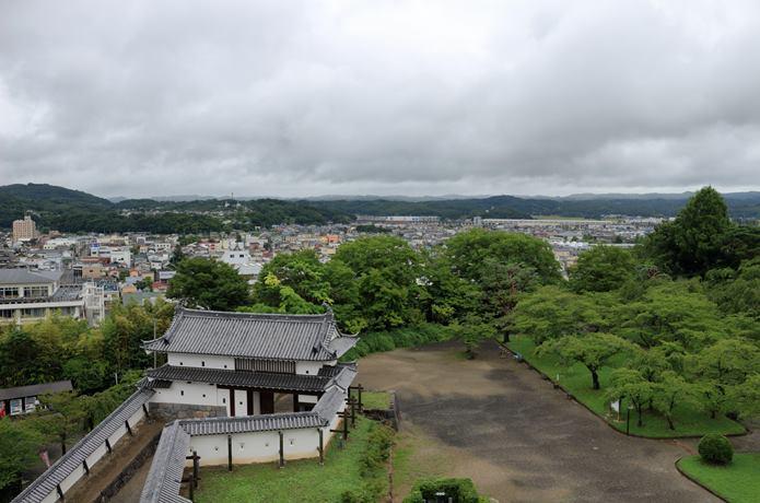 白石城 天守閣からの眺め