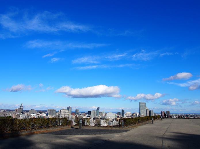 仙台城本丸からみる市街