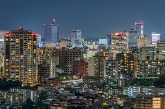 仙台 オフィス街 夜景