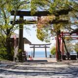 日和山公園から望む石巻湾