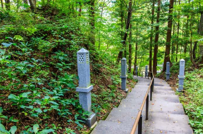 秋保大滝へ至る道