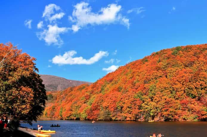 長老湖 紅葉