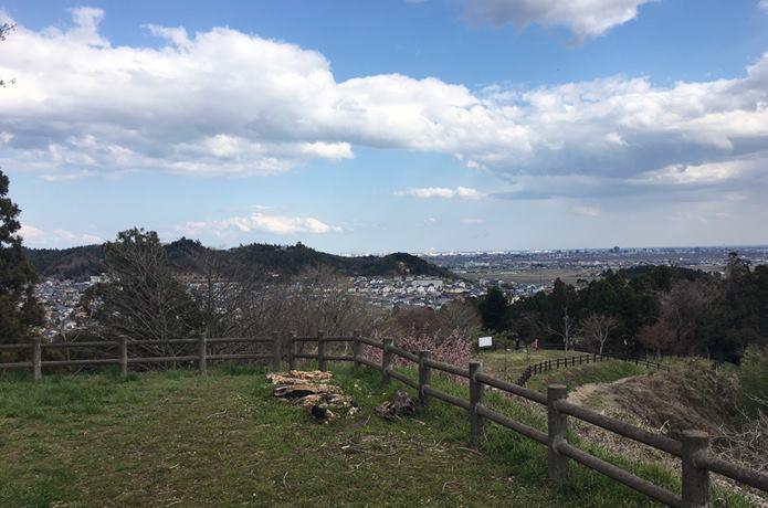 松森城と街並み