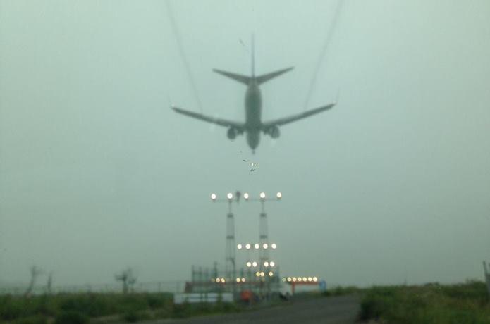 下増田第一臨空公園からみた飛行機