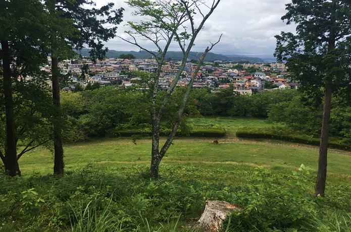 雷神山古墳から見る仙台市街