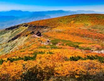 栗駒山と登山道
