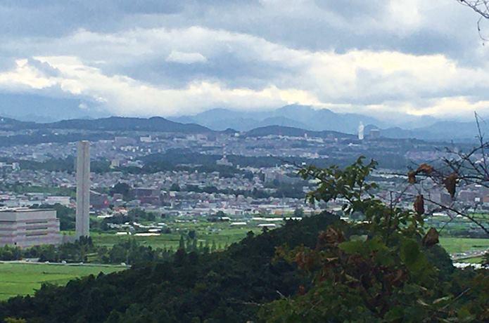 岩城城から望む仙台平野