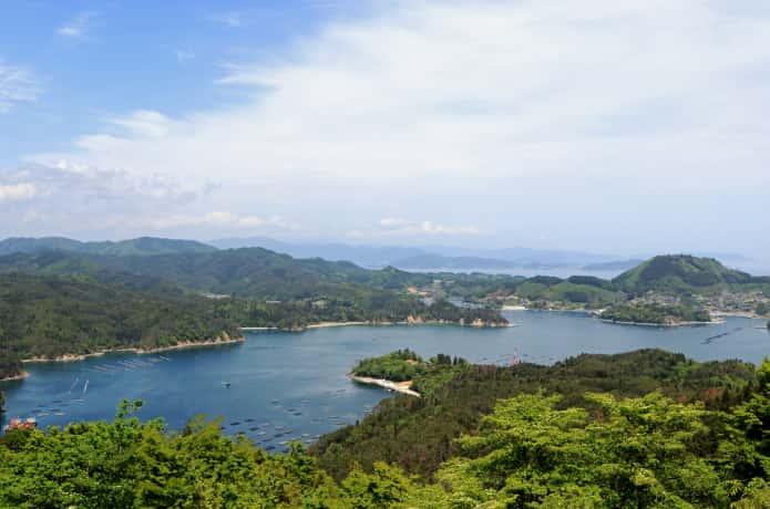 気仙沼 亀山展望台からの眺望