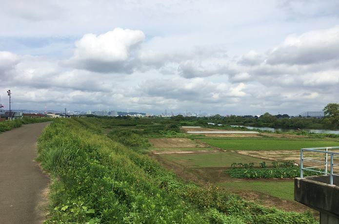 名取川と仙台市街