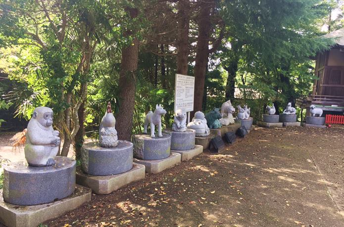 大満寺 仙台 十二支の像