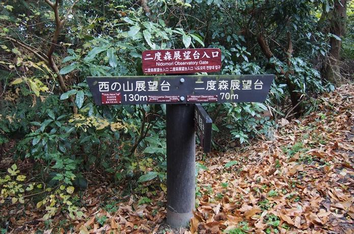 桂島 森の標識