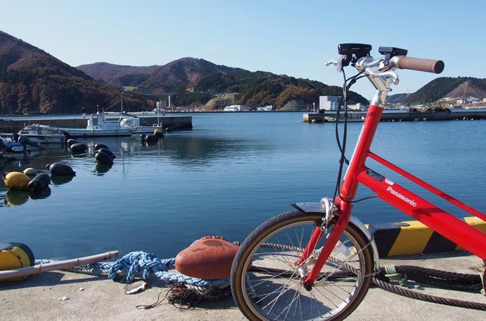 女川湾 自転車